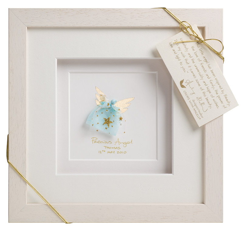 blue customised christening gift